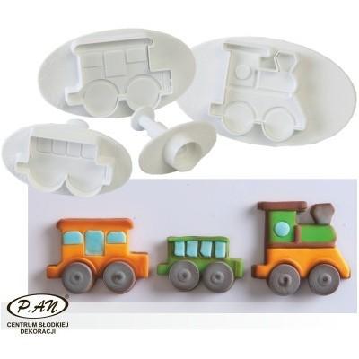 Plastic cutters set train