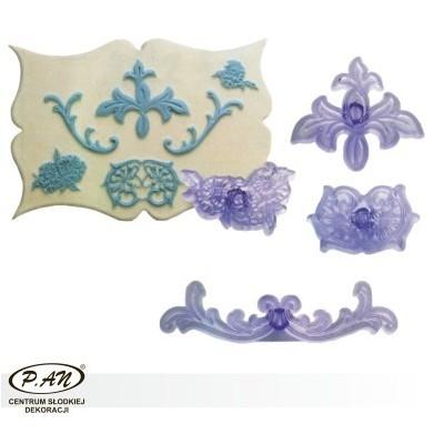 NOWOŚĆ!Zestaw plastikowych wykrawaczek - ornamenty