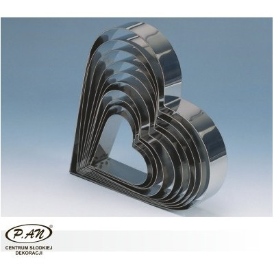 Metal Cake Moulds HEART  20x18 cm RMS20