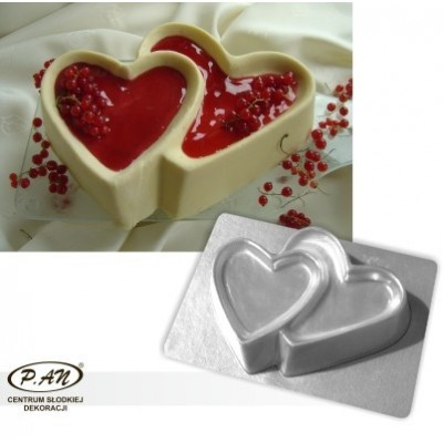 3-D plastic mould HEARTS 23cm  FT27