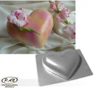 3-D plastic mould HEART 22cm  FT28
