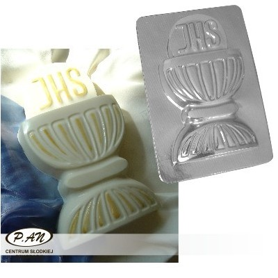 3-D plastic mould Chalice IHS, 30cm  FT31