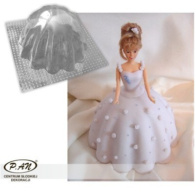 3-D plastic mould DRESS 21cm   FT39