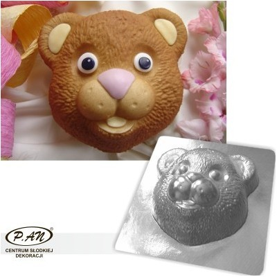 3-D plastic mould Teddy bear 20cm   FT25