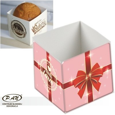 Box for cupcake WITH LOVE,10 pcs.