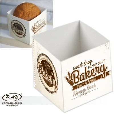 Box for cupcake'BAKERY',10 pcs. OWP01