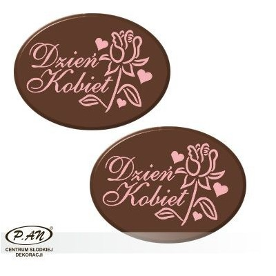 Women's Day oval 40mm 80pcs DCN47