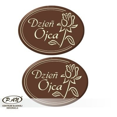 Father's Day oval 40x30mm 80pcs DCN134
