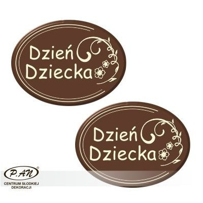 Children's Day oval 40x30mm 80pcs DCN135