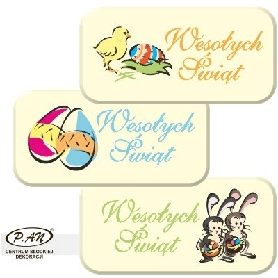 Happy Easter -mix 50x25mm DCN87 80szt.