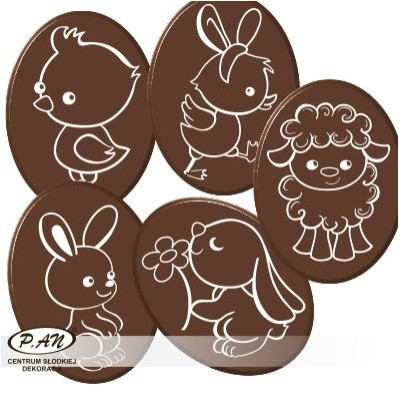 Easter mix oval 30mm DCN32 140szt.