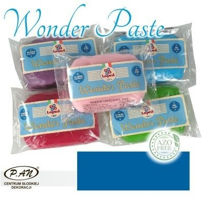 Sugar paste blue