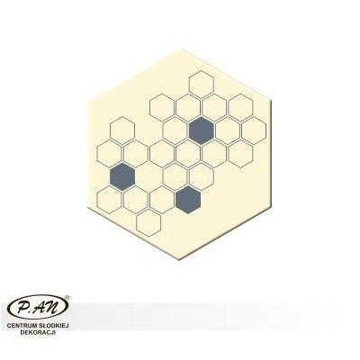 Dekoracja heksagon 35x40 mm - 50 szt. w opk. - DCN235