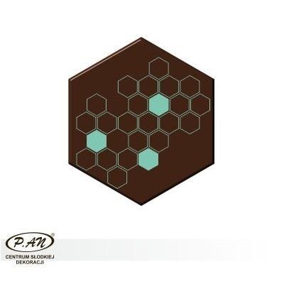 Dekoracje heksagon 35x40 mm -60 szt. w opk. - DCN234
