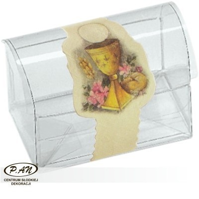 Transparent box for pralines