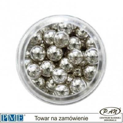 Cukrowe perełki - srebrne- 6mm - 25g -PME_SPS952